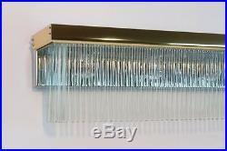 Vintage Regency Dangling Glass Rods Vanity Light Sciolari Style (new Old Stock)