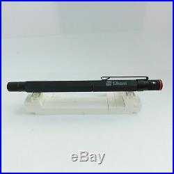 Vintage Rotring 600 Black Old Style Knurled Grip Fountain Pen M Nib Germany