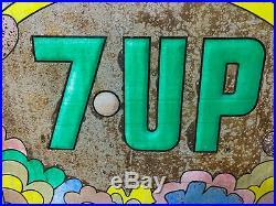 Vintage Soda Sign Vintage 7up Sign Peter Max Style Design Old Original