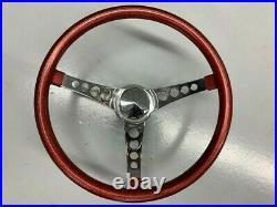 Vintage Superior Red Metal Flake custom steering wheel Hot Rod