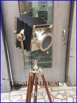 Vintage Tripod FLOOR Light Stand Tripod Old Style FLOOR Lamp Home Decor