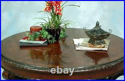 Vintage Victorian Old World Style Round Wood Coffee Table