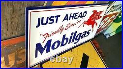 Vintage look Old Style Mobilgas Pegasus Mobil oil Sign hot rod garage art