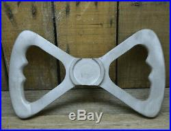 Vtg Style Aluminum Butterfly Dragster Steering Wheel Fed Nhra Front Engine Ahra