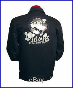 XL So Cal Aviator Mechanic Jacket Hot Rod Rat Street Old Vintage Style Club